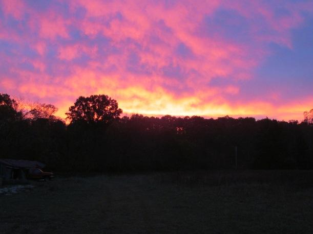 Morning sunrise . . . breathtaking!