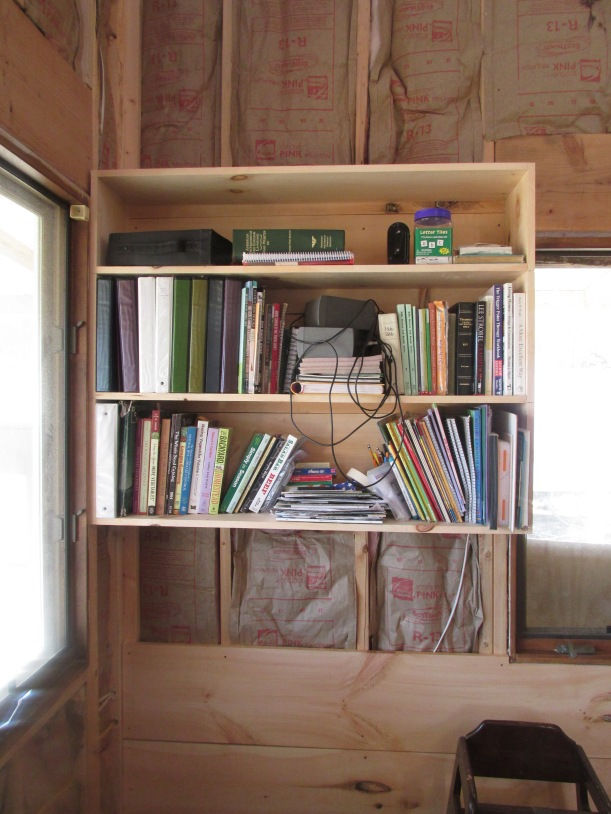 We have two books shelves and this one is already almost full.