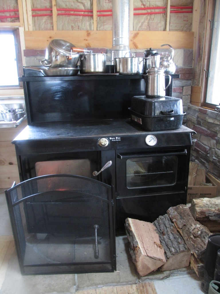 We are so thankful for our cook stove . . . our source of heat, hot water, and home cooked meals.