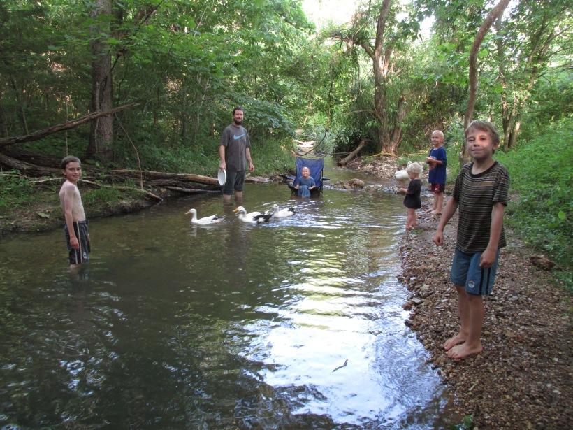 Summer 2015 at the creek.